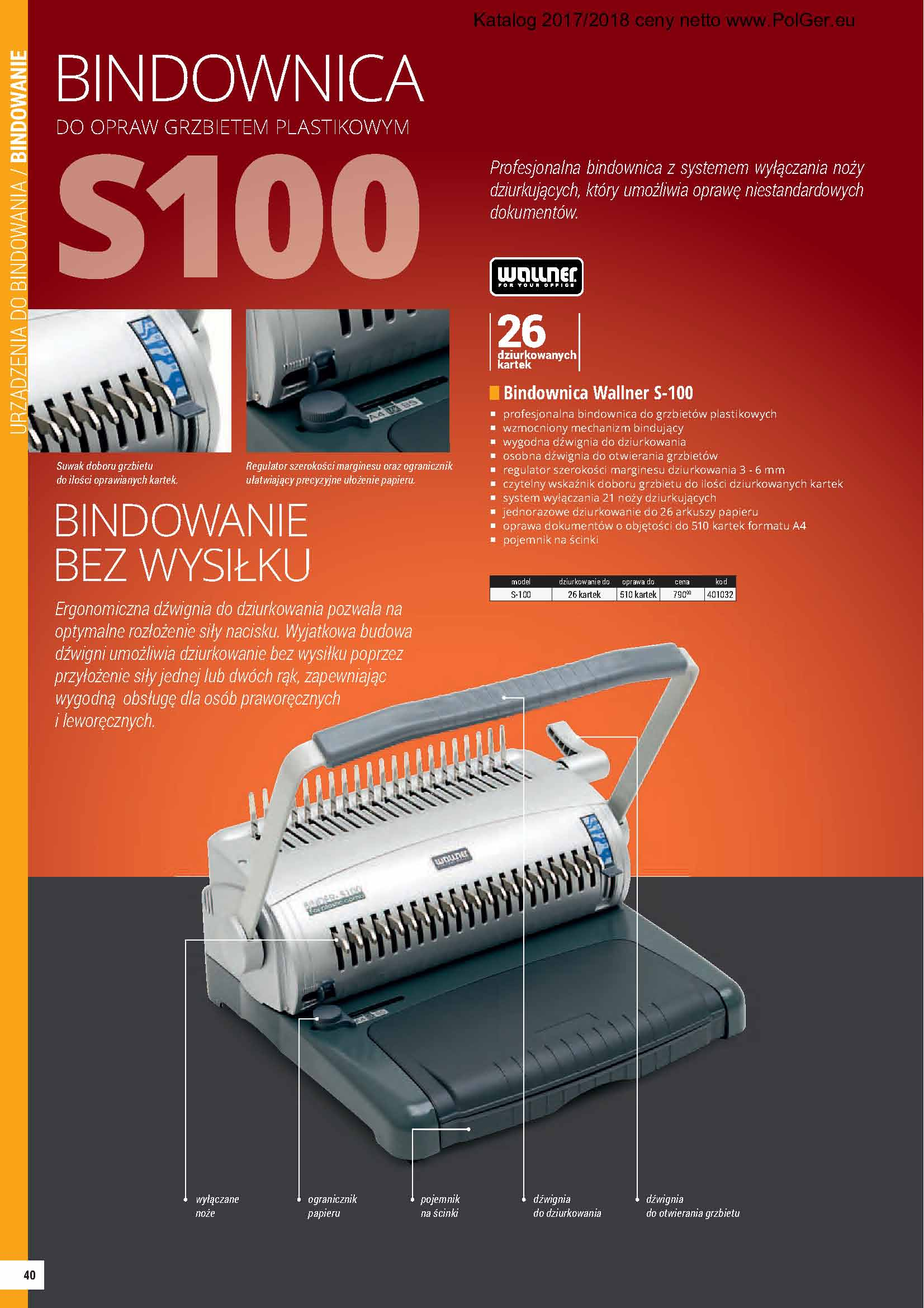 Bindownica S100